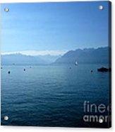 Alps And Leman Lake Acrylic Print