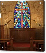 Altar At The Little Church In La Villita Acrylic Print
