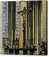 Altar Of Rouen Cathedral Acrylic Print