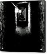 Altered Image Of The Catacomb Tunnels Paris France  Acrylic Print