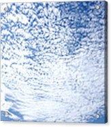 Altocumulus Stratiformis Perlucidus Cloud Acrylic Print