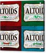 Altoids Collection Scratches Acrylic Print