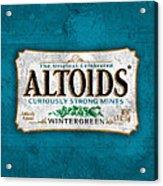 Altoids Wintergreen Scratches Acrylic Print