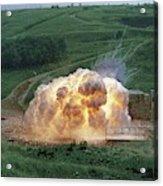 Aluminium Powder Explosion Acrylic Print