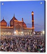 Alvida Juma Twilight At Jama Masjid Acrylic Print