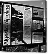 Alyeska Pipeline Acrylic Print