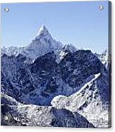 Ama Dablam Mountain Seen From The Summit Of Kala Pathar In The Everest Region Of Nepal Acrylic Print