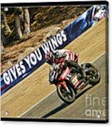 Ama Superbike Cory West Acrylic Print