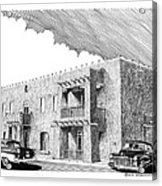 Amador Hotel In Las Cruces N M Acrylic Print by Jack Pumphrey