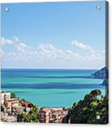 Amalfi Coast Landscape Vietri Village Acrylic Print