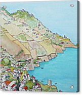 Amalfi Coast Praiano Italy Acrylic Print