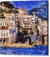 Amalfi Town In Italy Acrylic Print