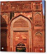 Amar Singh Gate Red Fort Agra  Acrylic Print
