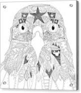 Amarican Eagle Black White Acrylic Print
