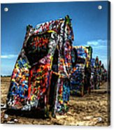 Amarillo - Cadillac Ranch 004 Acrylic Print by Lance Vaughn