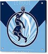 Amateur Basketball League Retro Poster Acrylic Print
