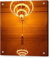 Amazing Antique Chandelier - Grand Central Station New York Acrylic Print