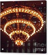 Amazing Art Nouveau Antique Chandelier - Grand Central Station New York Acrylic Print