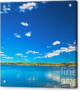 Amazing Clear Lake Under Blue Sunny Sky Acrylic Print