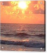 Amazing Golden Lavender South Carolina Sunrise Acrylic Print