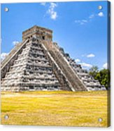 Amazing Mayan Pyramid At Chichen Itza Acrylic Print