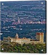 Amazing Medvedgrad Castle And Croatian Capital Zagreb Acrylic Print