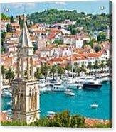 Amazing Town Of Hvar Harbor Acrylic Print