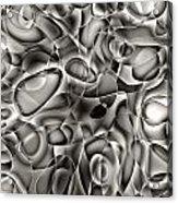 Amazing World Of Cells - Black And White Acrylic Print