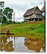 Amazon River Reflections-peru  Acrylic Print