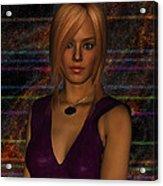 Amber Digital Portait Acrylic Print