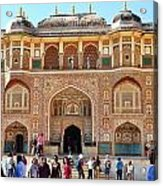 Amber Fort Entrance To Living Quarters - Jaipur India Acrylic Print