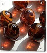 Amber Marbles Acrylic Print