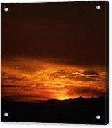 Amber Sky Acrylic Print