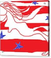 America Free Falling  Acrylic Print by Anita Dale Livaditis
