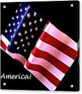 America Greeting Card Acrylic Print