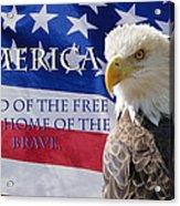 America Land Of The Free Acrylic Print