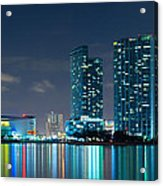 American Airlines Arena And Condominiums Acrylic Print