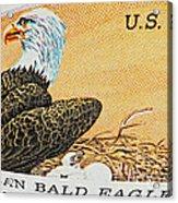 American Bald Eagle Vintage Postage Stamp Print Acrylic Print