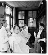 American Barbershop, C1900 Acrylic Print