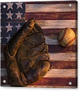 American Baseball Acrylic Print