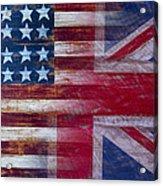 American British Flag Acrylic Print by Garry Gay