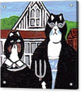 American Cat Gothic Acrylic Print