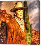 American Cinema Icons - The Duke Acrylic Print