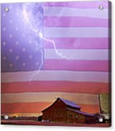 American Country Storm Acrylic Print