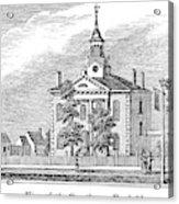 American Courthouse, 1844 Acrylic Print