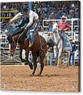 American Cowboy Riding Bucking Rodeo Bronc II Acrylic Print