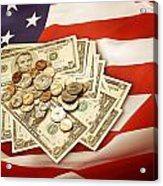 American Currency  Acrylic Print by Les Cunliffe