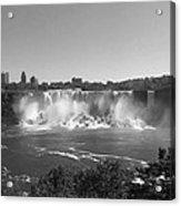 American Falls - Autumn - B N W Acrylic Print