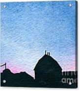 American Farm #1 Silhouette Acrylic Print