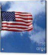 American Flag Acrylic Print by Amy Cicconi